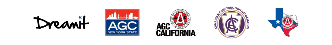 DreamIt, AGC New York, AGC California, Canadian Construction Association, AGC Texas Logos